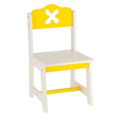BIECO Stuhl »Holz Kinderstuhl, gelb Für Innen Kinder Stuhl aus Holz Holz Sitzbank Kinder Stuhl Kleinkind Kindertisch mit Stühle Sitzhocker Kinder Safety 1st«