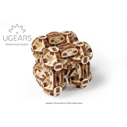 UGEARS 3D-Puzzle »Holz 3D-Puzzle Modellbausatz FLEXI-WÜRFEL«, 144 Puzzleteile