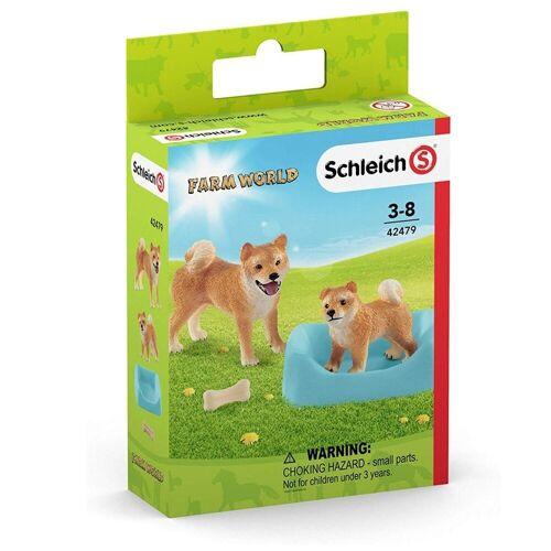 Schleich® Spielfigur »Schleich 42479 - Farm World - Shiba Inu Mutter und Welpe«