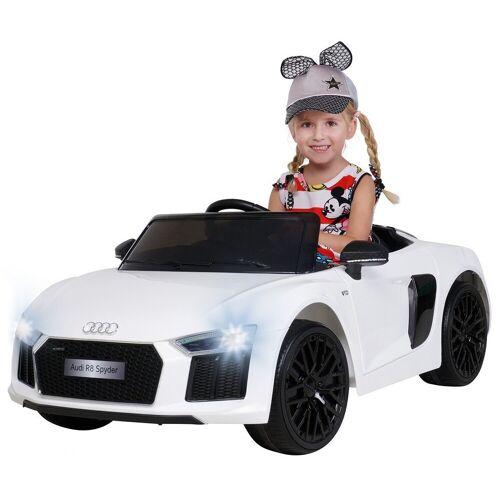 Actionbikes Motors Spielzeug-Auto »Kinder Elektroauto Audi R8«, inkl. Fernbedienung, Weiß