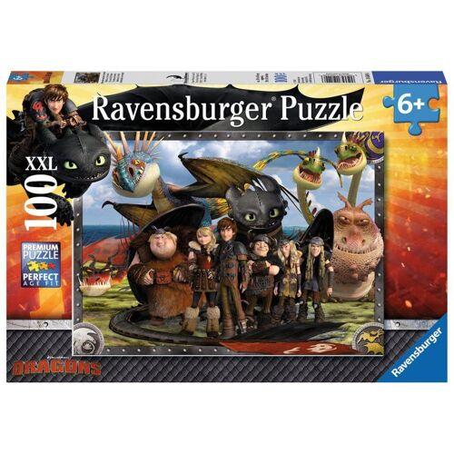 Ravensburger Puzzle »Dragons: Ohnezahn Und Seine Freunde«, 100 Puzzleteile