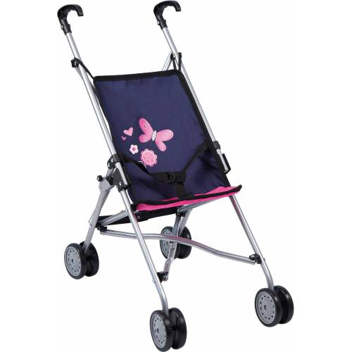 Bayer Puppenwagen »Puppenwagen Buggy blau/pink«