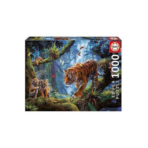 Educa Puzzle »Puzzle Tiger im Baum, 1.000 Teile«, Puzzleteile