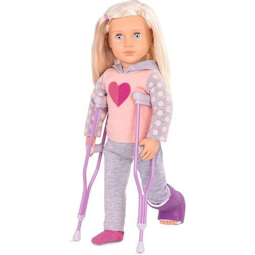 Our Generation Anziehpuppe »Puppe Martha 46 cm mit Gipsbein, beweglich«