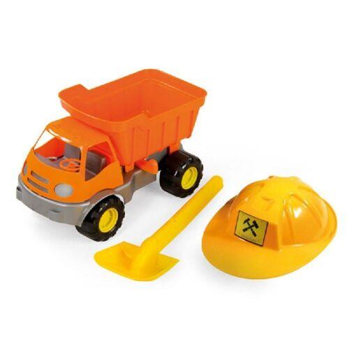 Mochtoys Spielzeug-LKW »Spielzeug LKW mit Helm und Schaufel«, 36 x 24 x 21 cm