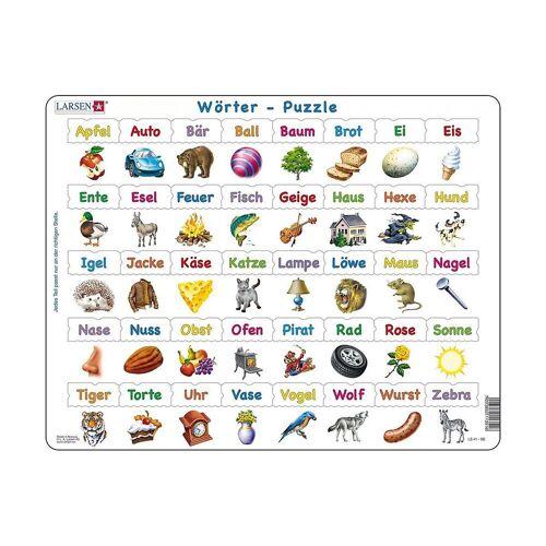 Larsen Puzzle »Rahmen-Puzzle, 40 Teile, 36x28 cm, Wörter«, Puzzleteile