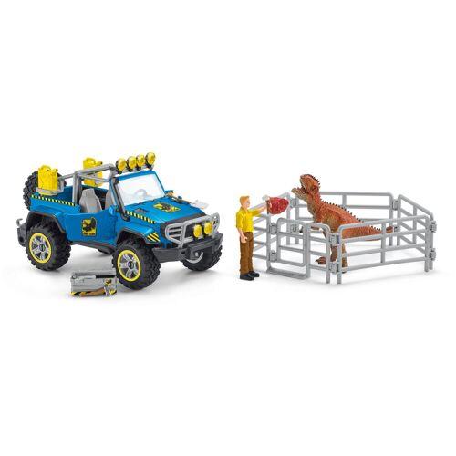 Schleich® Spielzeug-Auto »Dinosaurs, Geländewagen mit Dino-Außenposten (41464)«, (Set)