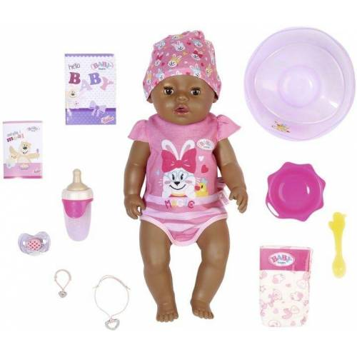 Baby Born Babypuppe »Magic Girl Brown Eyes, 43 cm« (Set, 13-tlg), mit 10 lebensechten Funktionen