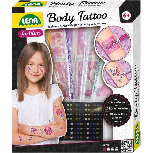 Lena® Schmuck-Tattoo »Body Tattoo Stifte, 4 Stück«
