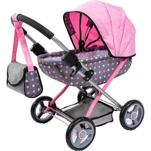 Bayer Puppenwagen »Puppenwagen Cosy, pink Sterne«, grau