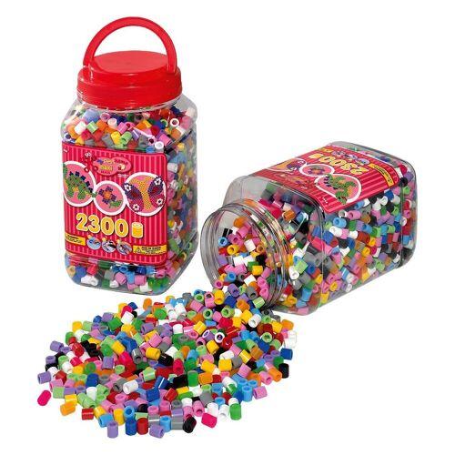 Hama Perlen Bügelperlen »HAMA 8586 Dose rot mit 2.300 maxi-Perlen«