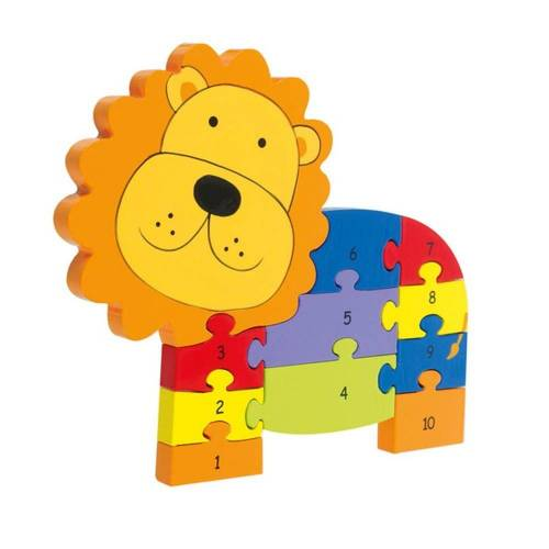 Nici Konturenpuzzle »Zahlenpuzzle Löwe«, 11 Puzzleteile