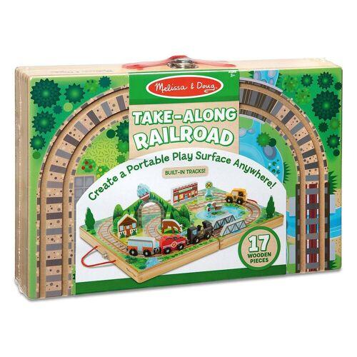 Melissa & Doug Spielzeugeisenbahn-Set »Holzeisenbahn zum Mitnehmen«
