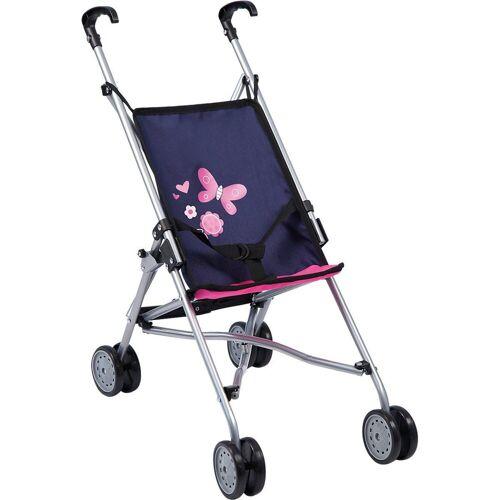 Bayer Puppenbuggy »Puppenwagen Buggy blau/pink«
