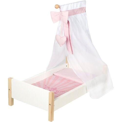 roba® Puppenhausmöbel »Puppenbett Scarlett mit Himmel, Puppenmöbel«