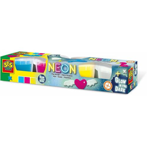 Creative SES Creative Knete »Neon und Glow in the dark-Knete 4 x 90g«