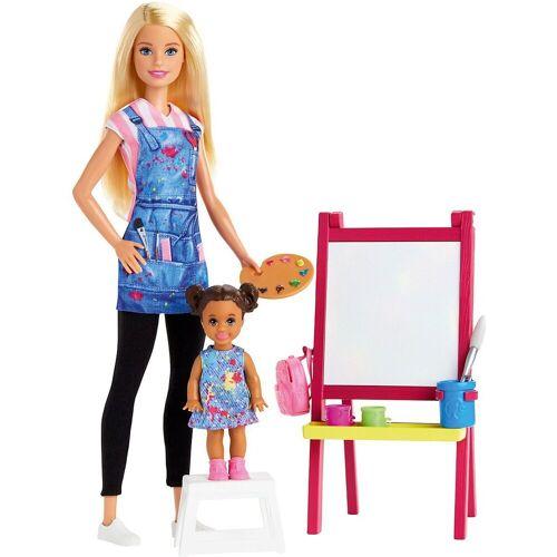 Mattel Anziehpuppe »Barbie Kunstlehrerin Puppe (blond) und Spielset«