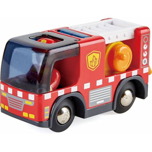 Hape Spielzeug-Eisenbahn »Feuerwehrauto mit Sirene«