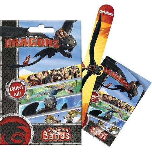 CRAZE Armband »6in1 Set Mini Slap-Snap-Bands - Dragons«