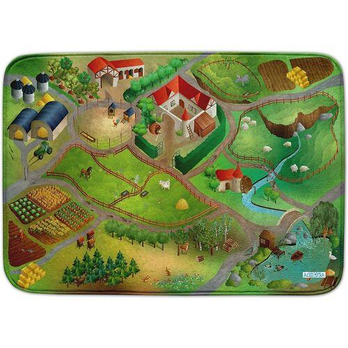 ACHOKA® Kinderteppich »Ultrasoft Spielteppich Bauernhof«, , grün