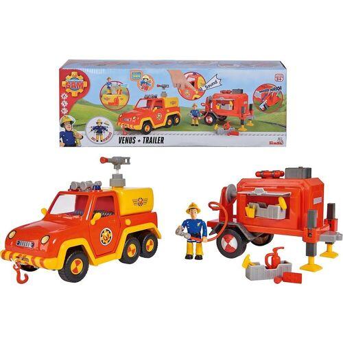 SIMBA Spielzeug-Auto »Feuerwehrmann Sam Venus mit Anhänger und Figur«
