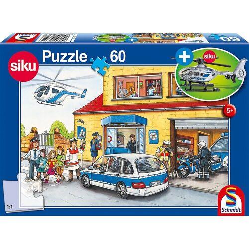 Schmidt Spiele Puzzle »Siku Puzzle 60 Teile Hubschrauber Polizei«, Puzzleteile
