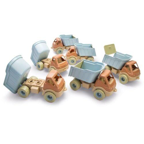 dantoy Spielzeug-LKW »Bio LKW Spiel-Fahrzeug Spielzeug Auto Lastwagen Kindergarten-Set 6 Stück«, (6-tlg), natürliche Farbtöne