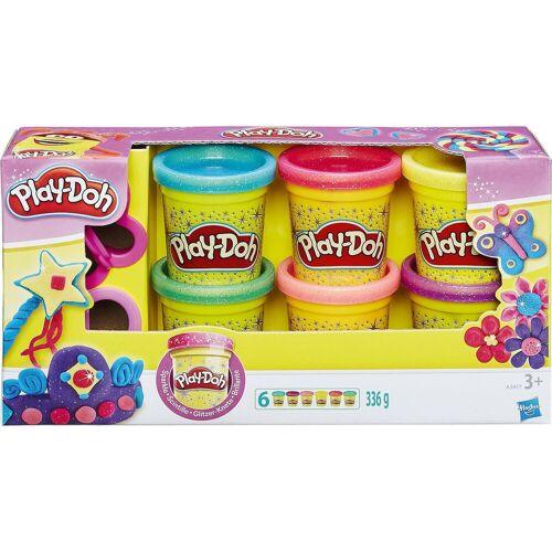 Hasbro Knete »Play-Doh Knet-Dosen 6er-Pack - Glitzerknete«