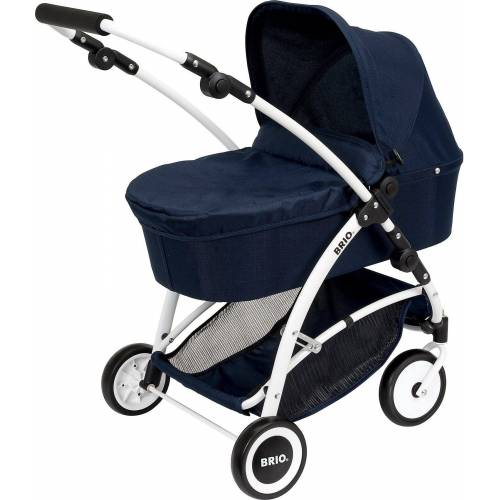Brio Puppenwagen »Puppenwagen Spin blau mit Schwenkrädern«