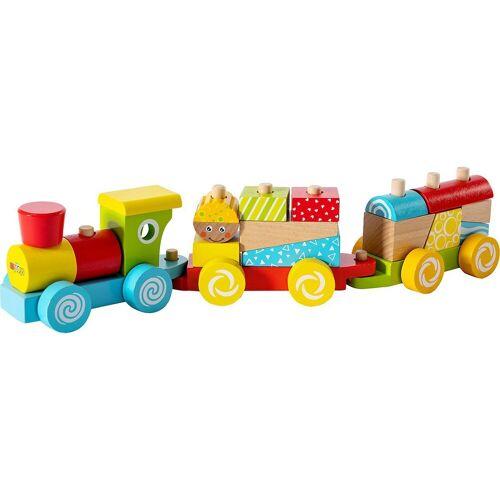 myToys Spielzeug-Eisenbahn »Holzzug, 17-tlg.«