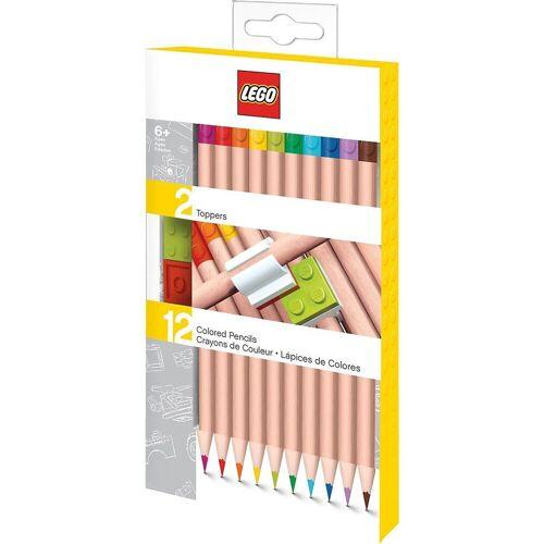 Lego Buntstift »Buntstifte LEGO, mit Topper, 12 Farben«