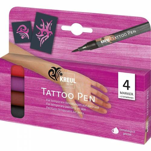 C. KREUL Schmuck-Tattoo »Tattoo Pen 4er-Set Tribals«