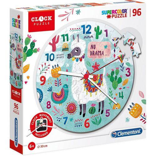 Clementoni® Puzzle »Clock Puzzle 96 Teile - Lama«, Puzzleteile