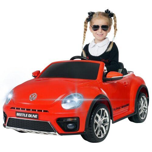 Actionbikes Motors Spielzeug-Auto »Kinder Elektroauto VW Beetle«, inkl. Fernbedienung, Rot