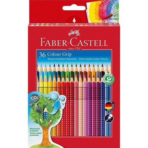 Faber-Castell Buntstift »Buntstifte COLOUR GRIP wasservermalbar, 36 Farben«