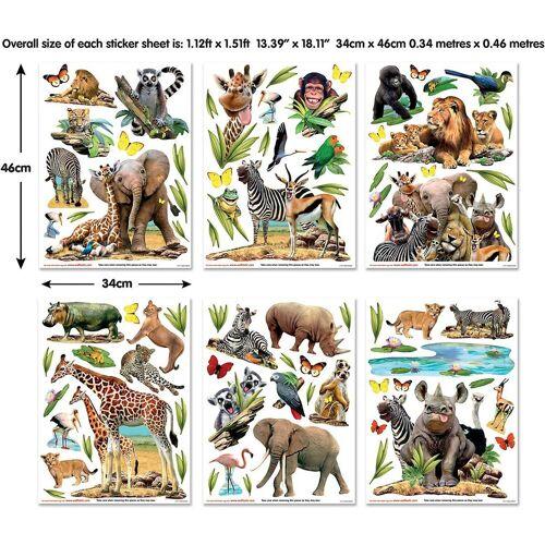 Walltastic Fototapete »Wandsticker Jungle Safari«