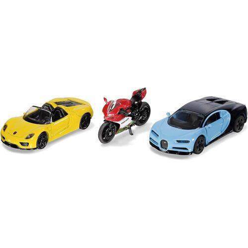 Siku Spielzeug-Auto »Sportwagen und Motorrad«