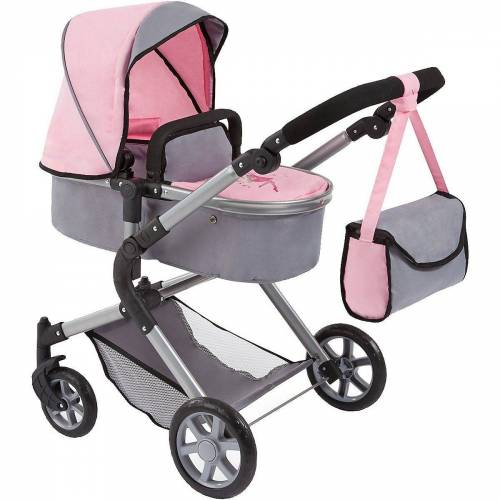 Bayer Puppenwagen »Puppenwagen City Neo grau/rosa«