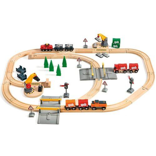 Brio Spielzeugeisenbahn-Set »BRIO 33165 Großes Güterbahnhofset«