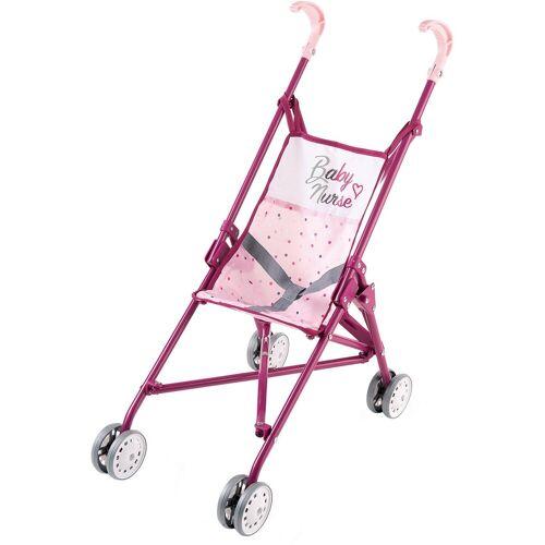 Smoby Puppenwagen zusammenklappbar, rosa/lila