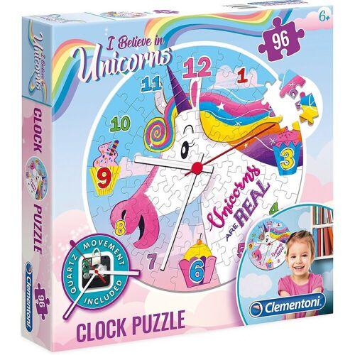 Clementoni® Puzzle »Clock Puzzle 96 Teile - Einhorn«, Puzzleteile
