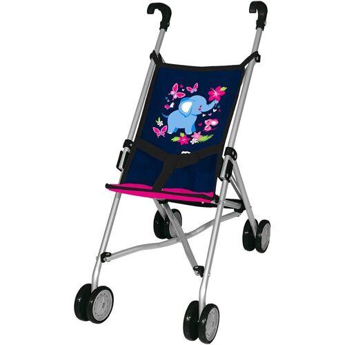 MyToys-COLLECTION Puppenbuggy »Puppen-Buggy, blau/pink von Bayer«
