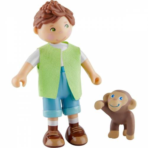 Haba »305641 Little Friends – Julius und Affenbaby« Puppenhausmöbel