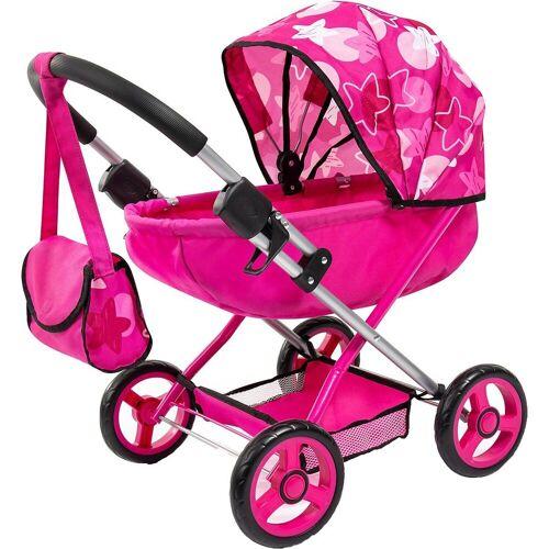 Bayer Puppenwagen »Puppenwagen Cosy, pink Sterne«, pink