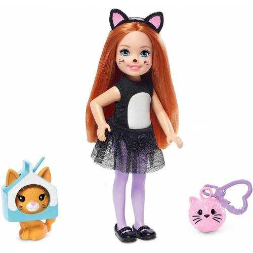 Mattel Anziehpuppe »Barbie Chelsea Katzen-Kostüm Puppe«