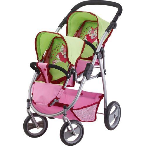 Bayer Puppenwagen »Zwillingspuppenwagen grün/pink«