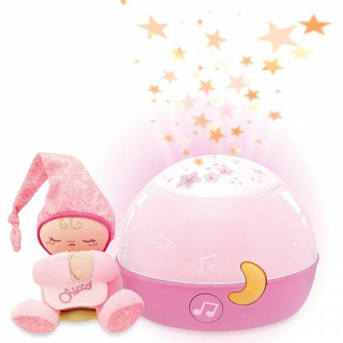 Chicco Nachtlicht »Sternenhimmel-Projektor, blau«, rosa