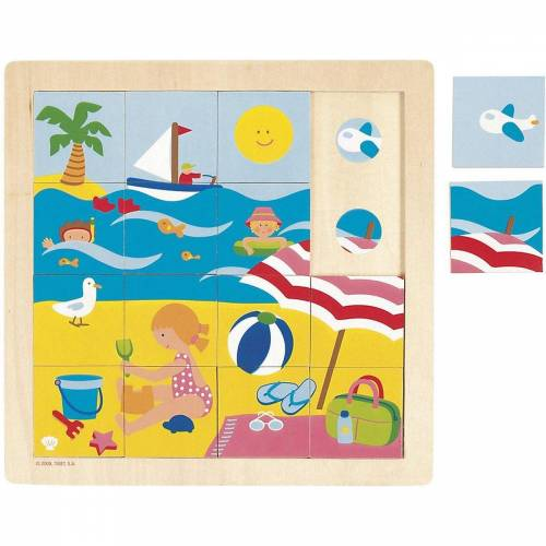 Goula Puzzle »Holzpuzzle 16 Teile Sommer«, Puzzleteile