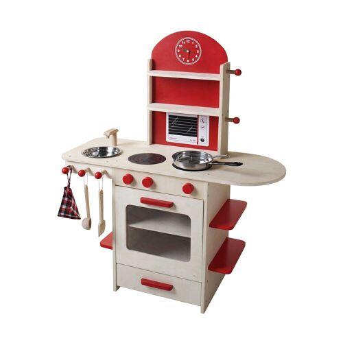roba® Spielküche »Weiß/Rot« Holz