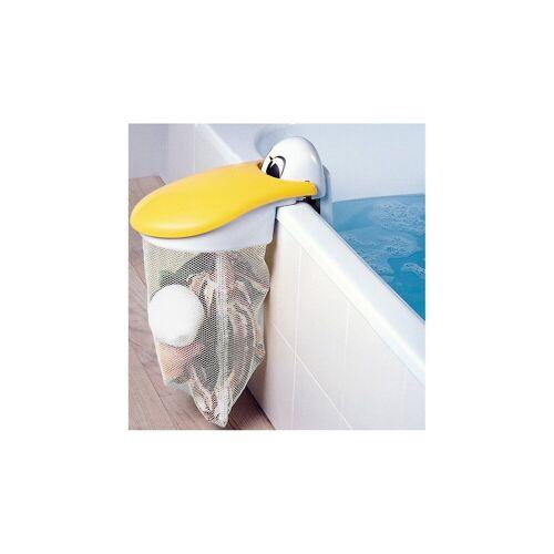 KidsKit Spielzeug-Badewannennetz Pelikan, weiß